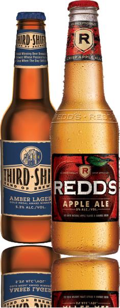 Third Shift and Redds Bottles