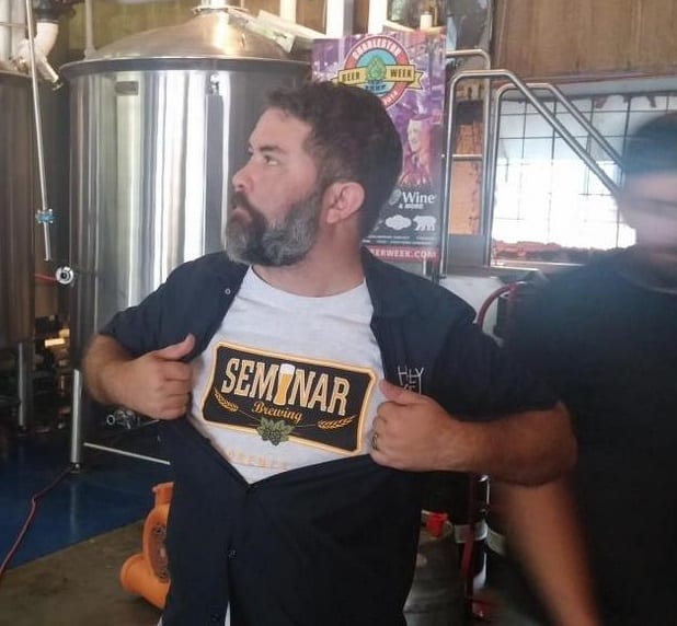 Josh Taylor, our Columbia Area Manager, announcing our partnership with Seminar Brewing at Charleston Beer Week
