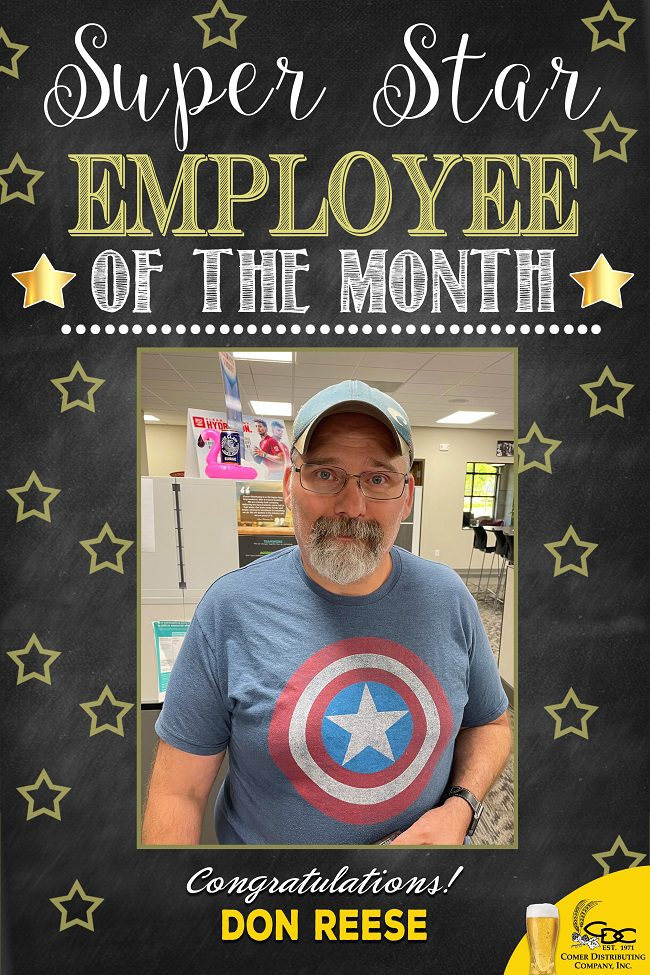Don Reese Employee of the Month